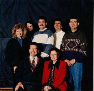 The Martin Family Bert Sr. and Edna Vicky, Mike, David, Bert Jr., and Troy