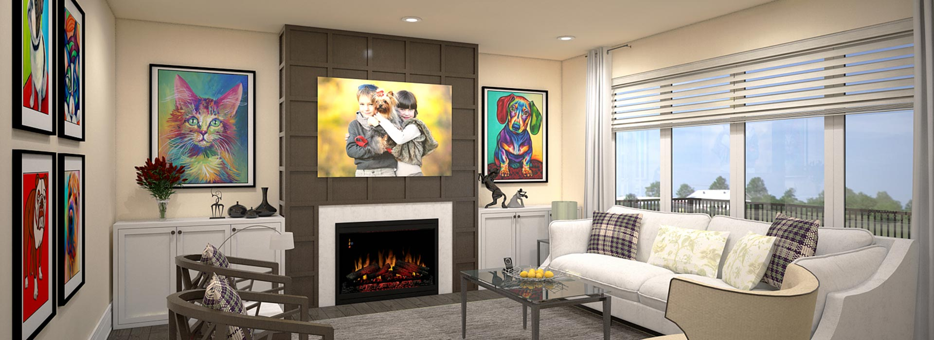 Picture of the Living Room of the Pet Friendly House