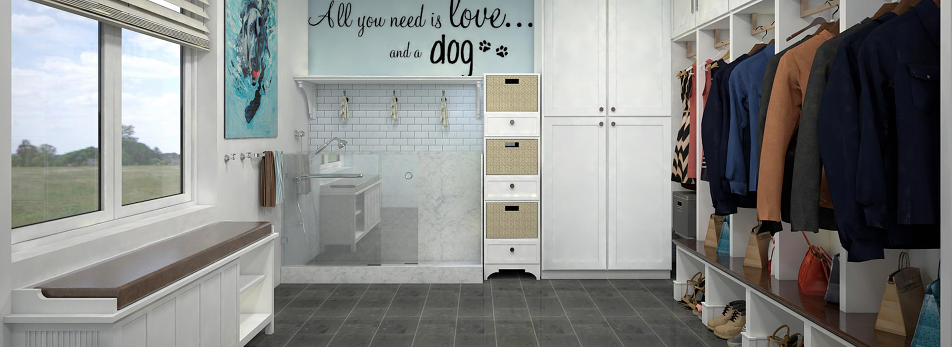 Picture of the Mudroom of the Pet Friendly House
