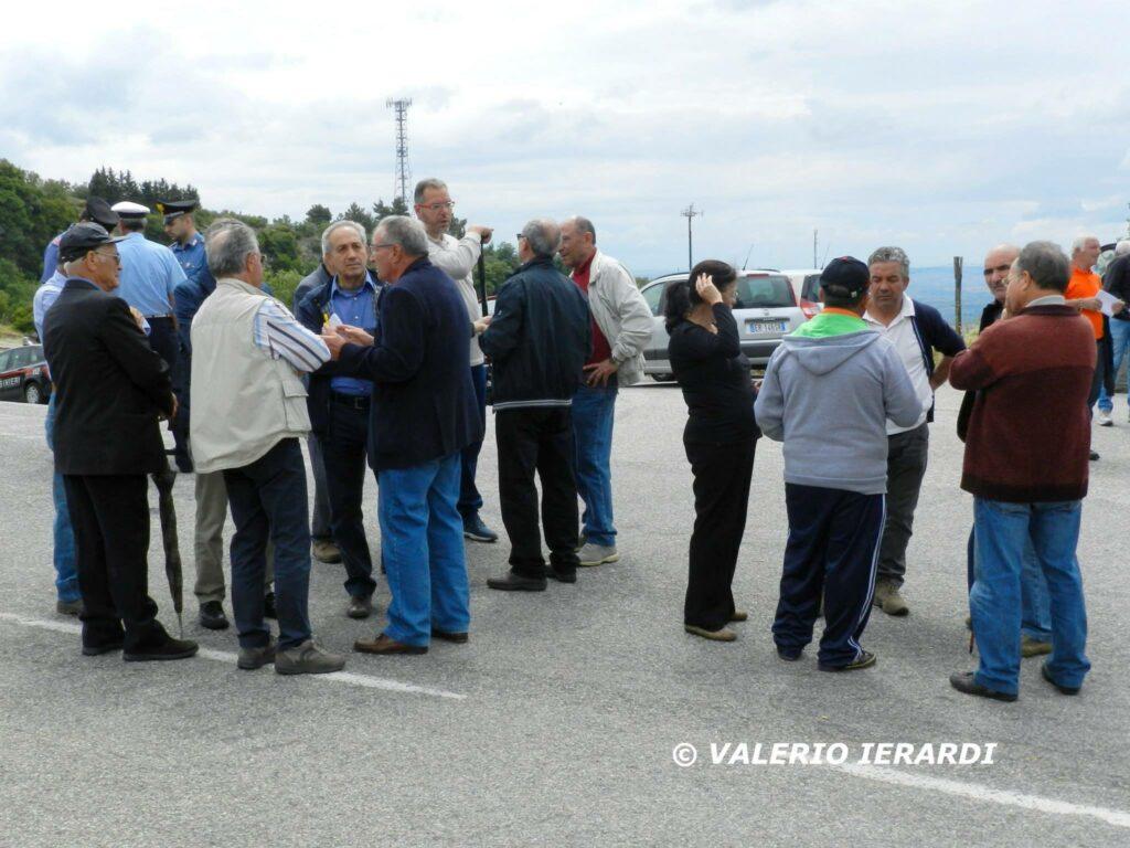 Foto della protesta di San Demetrio
