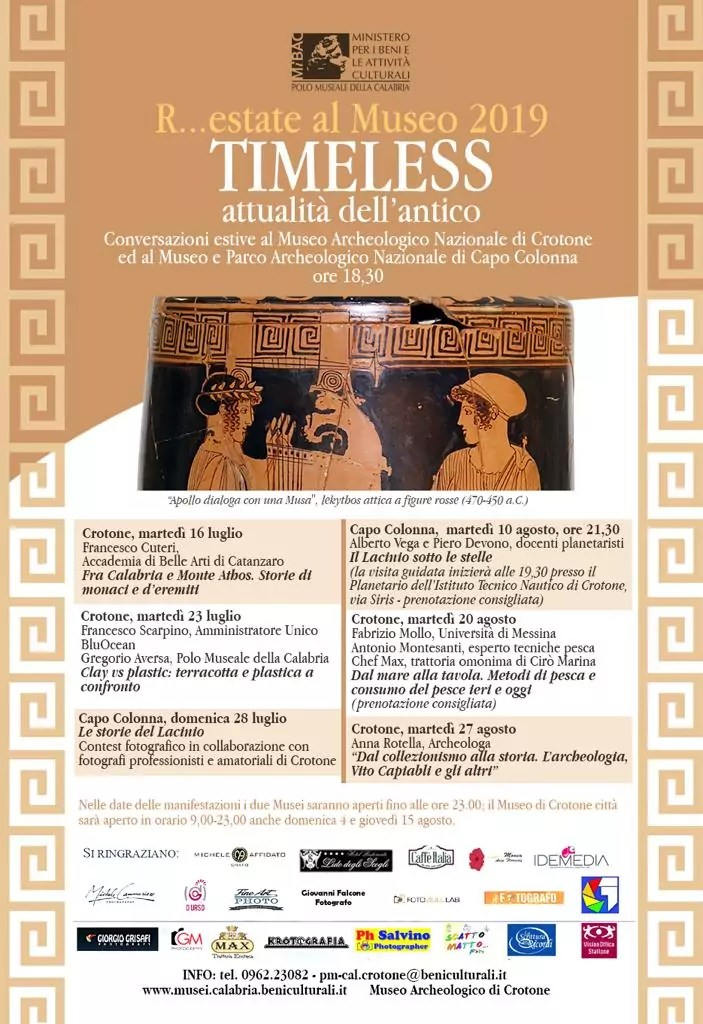 Al museo archeologico di Crotone iniziano gli incontri culturali estivi