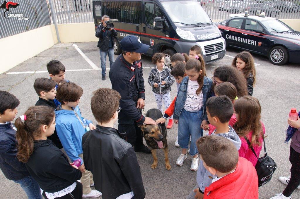 Gli alunni dell'Alfieri di Crotone in visita al Comando provinciale Carabinieri