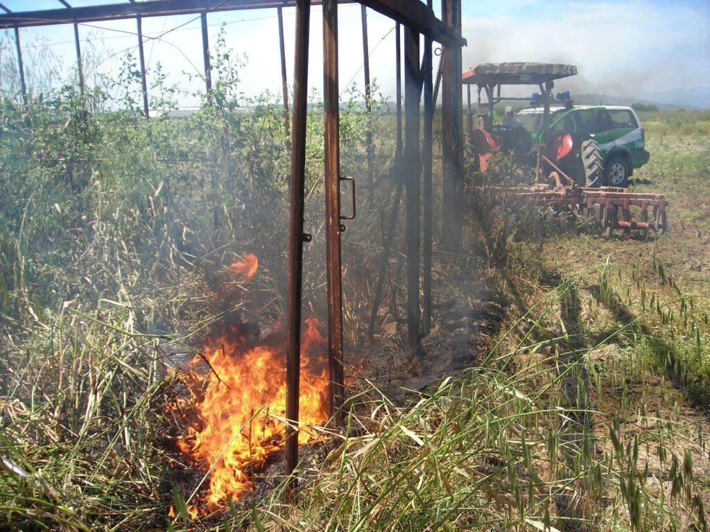 Crotone, denunciato agricoltore che bruciava rifiuti plastici e tossici nel suo fondo agricolo