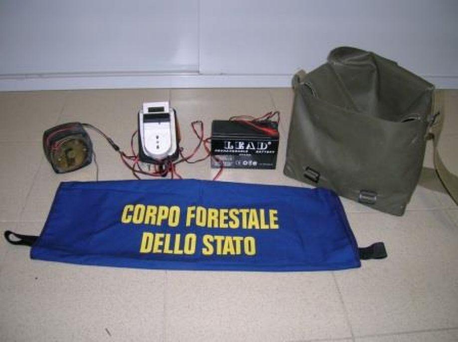 Antibracconaggio: sequestrato un richiamo acustico illegale assicurato ad un traliccio dell'alta tensione a Strongoli