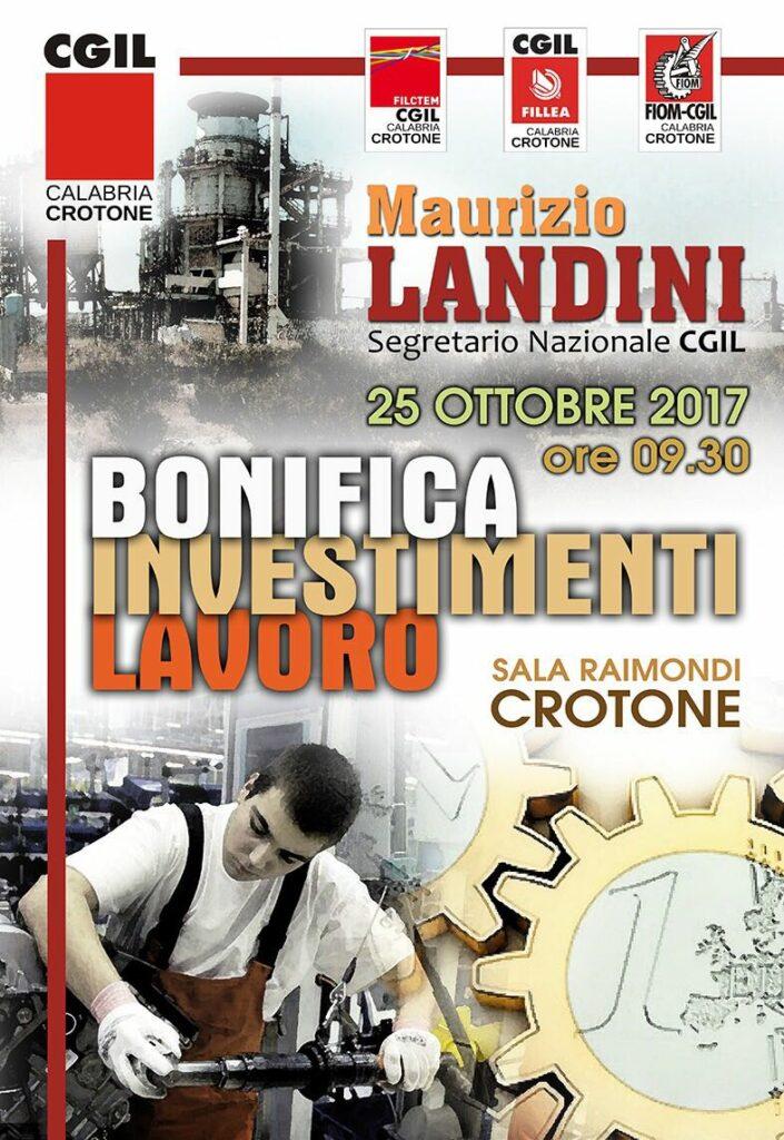 Maurizio Landini a Crotone per le Bonifiche