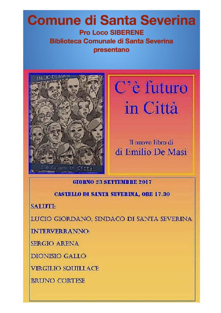 Presentazione del libro di De Masi a Santa Severina