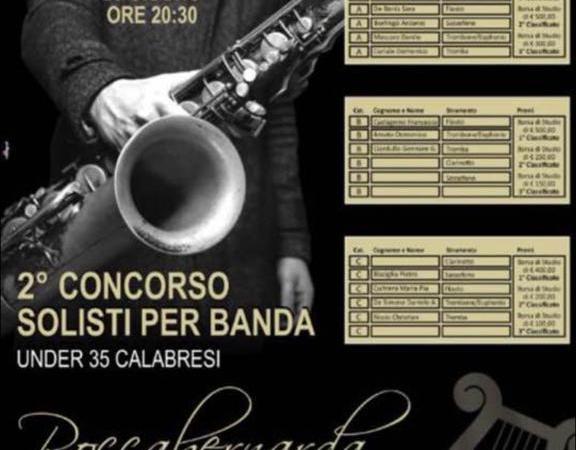 Domenica la finale del Concorso Solisti per Banda a Roccabernarda