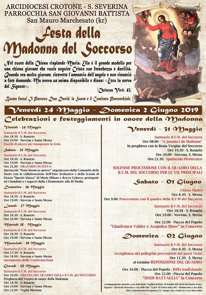Dodi Battaglia a San Mauro Marchesato per la festa della Madonna del Soccorso