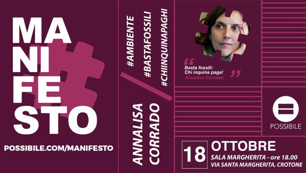 Il Comitato Mediterraneo Possibile ha organizzato un incontro con Annalisa Corrado