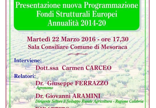 Presentazione PSR Calabria a Mesoraca