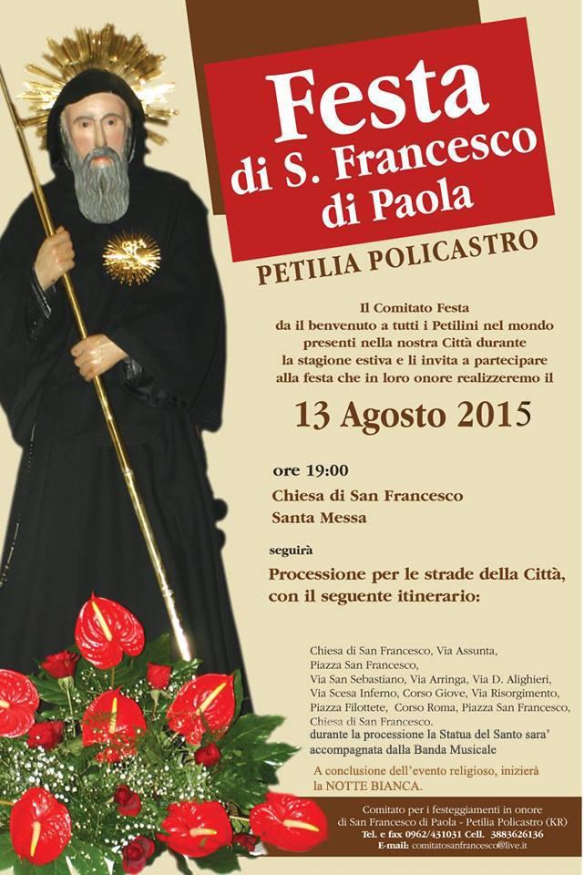 Festa estiva di San Francesco di Paola