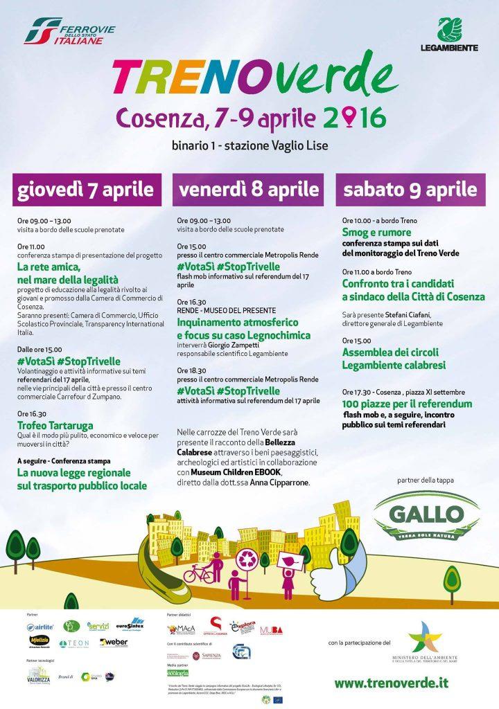 Treno Verde a Cosenza