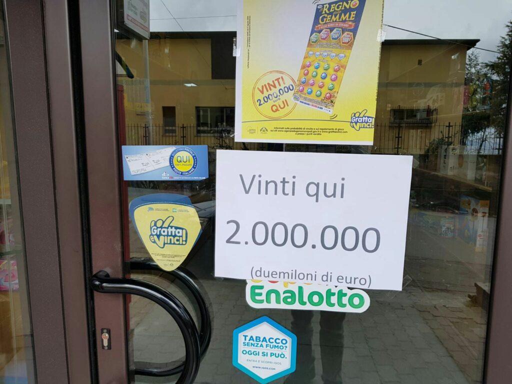 Vinti 2 milioni di euro ad un tabacchino a Petilia?