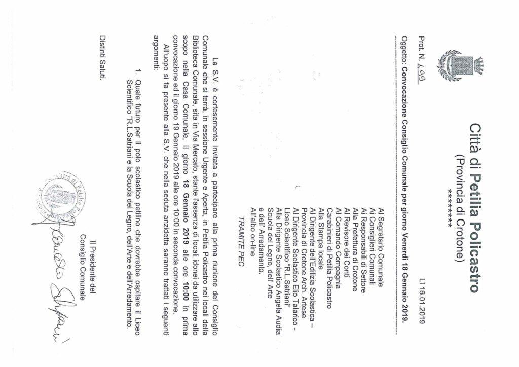Ancora polemica sul Consiglio comunale: Pugliese ribadisce di non essere stato invitato