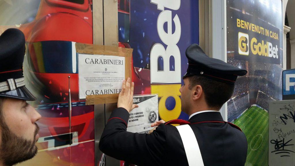 Minori nella Sala Scommesse: i Carabinieri chiudono una ricevitoria