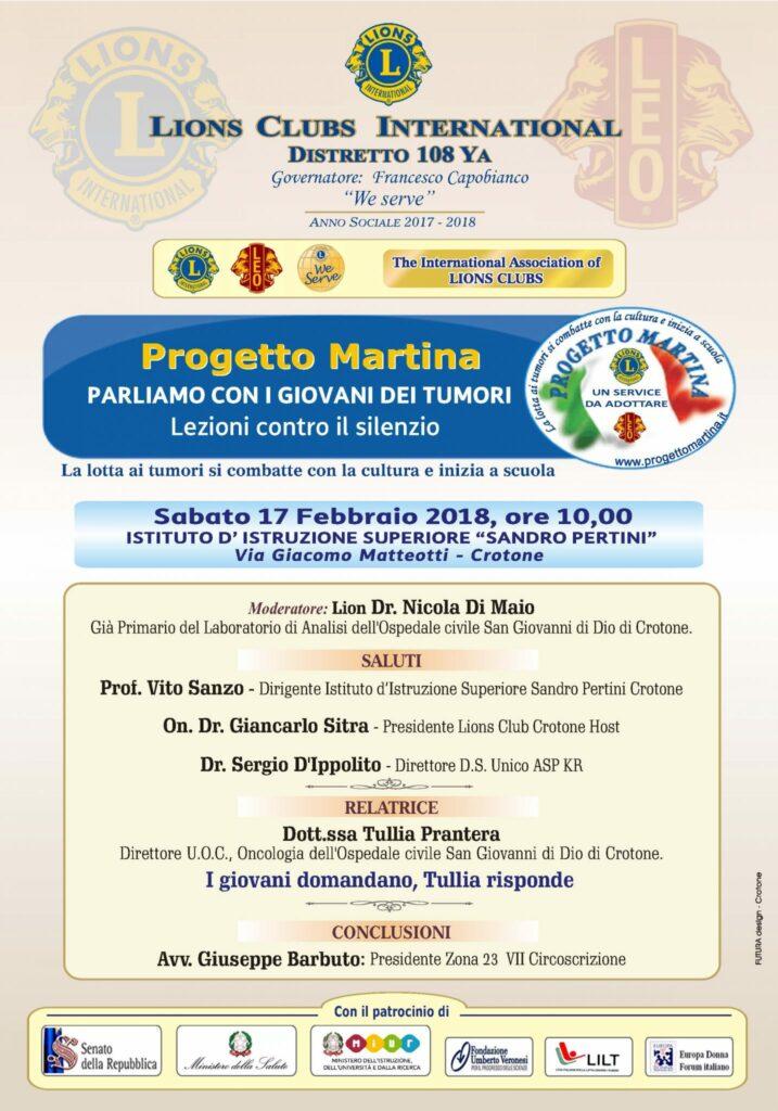 Lions Crotone Host, Service sull'educazione alla salute