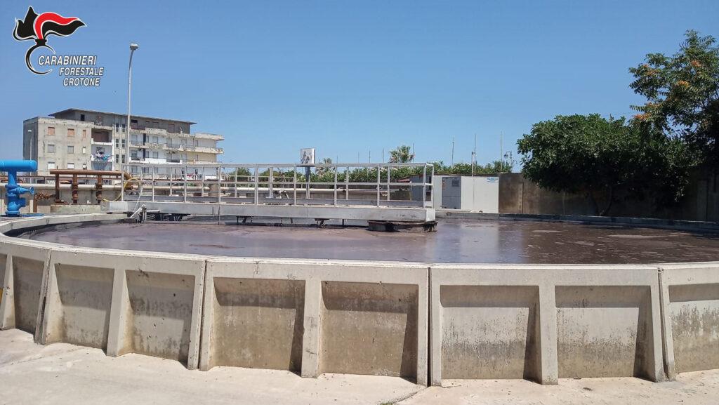 Irregolarità nel depuratore di Cirò Marina, i Carabinieri forestali contestano pesanti sanzioni