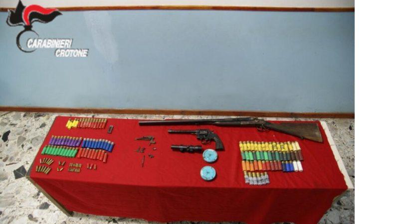 Sequestrate armi detenute illegalmente a Roccabernarda