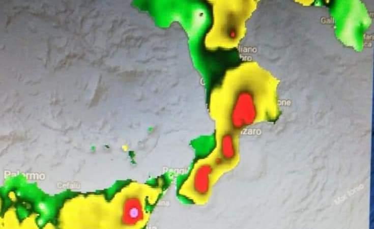 Instabilità meteo prevista per domani