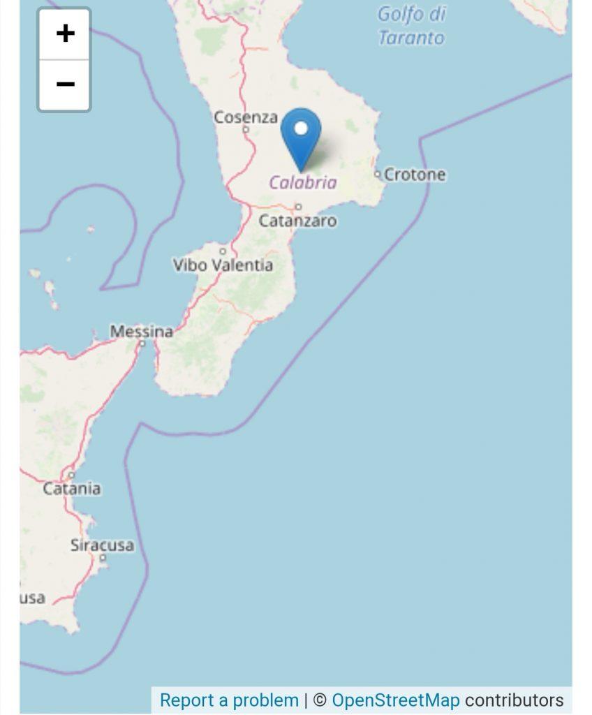 Avvertito terremoto tra Catanzaro e Crotone