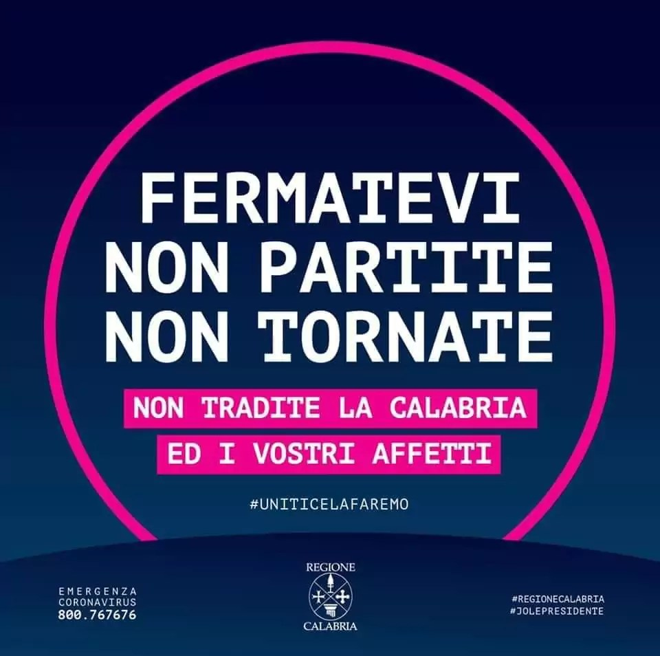 Coronavirus, la Regione Calabria ha predisposto un piano operativo d'emergenza