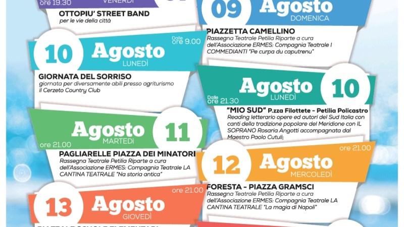 Agosto petilino: Pubblicato il calendario degli eventi