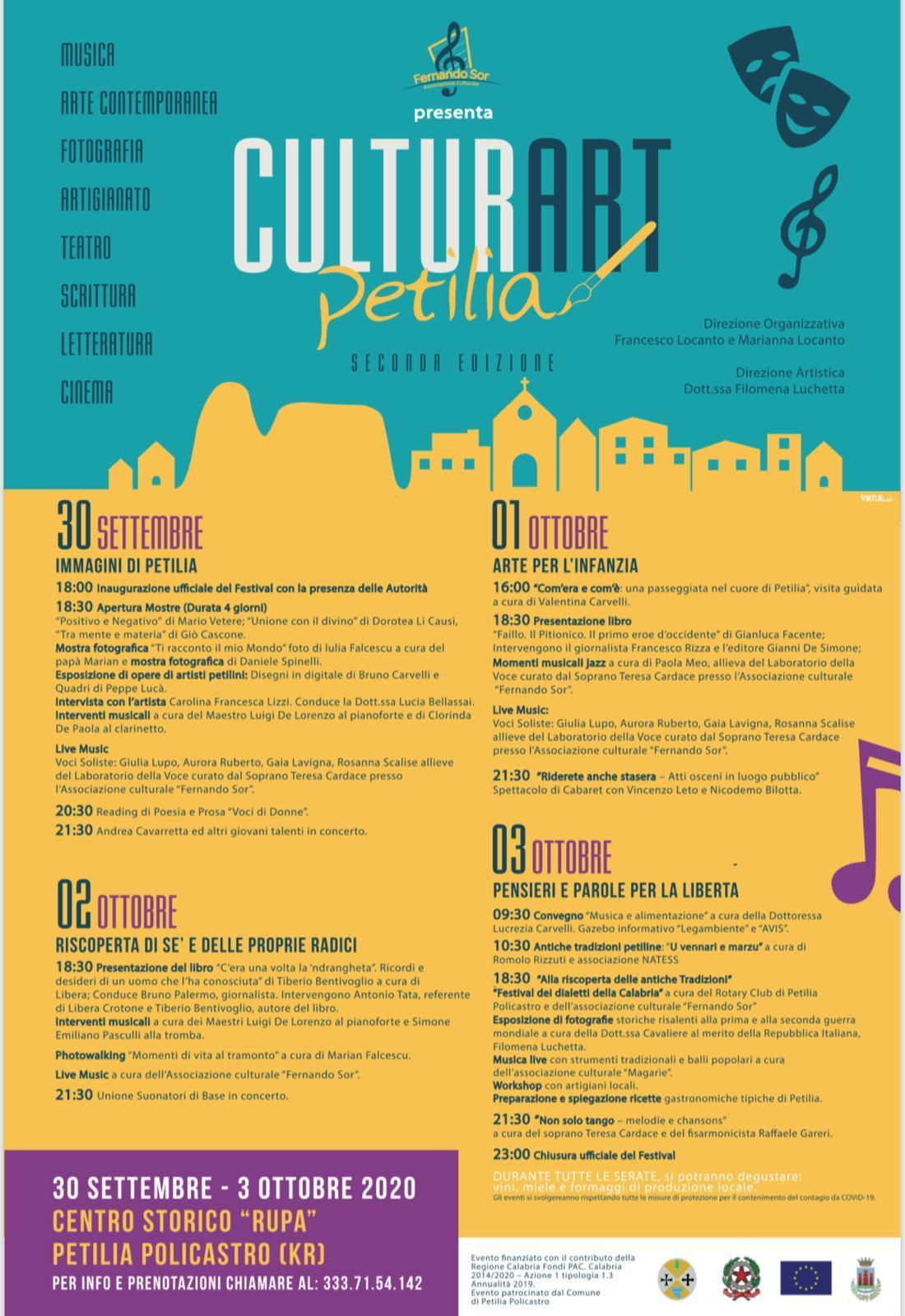 CulturArt: a Petilia la seconda edizione della manifestazione culturale