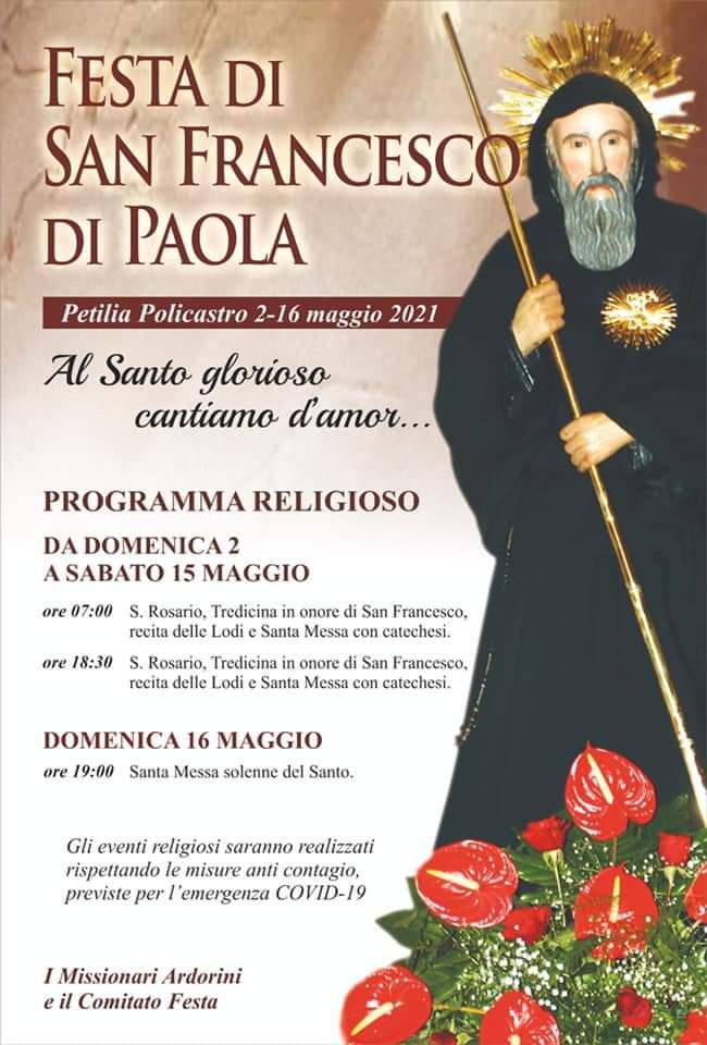 Inizia la tredicina per San Francesco di Paola