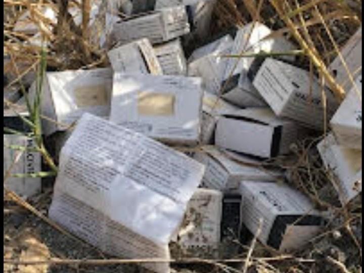 Il Circolo Legambiente Nicà denuncia medicinale abbandonato nei terreni