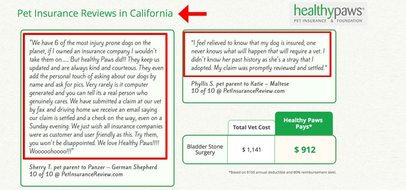 california pet insurance reviews