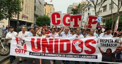 faixa da CGTP Peru