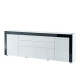 vox buffet contemporain laque blanc et noir brillant l 200 cm petit bazar com