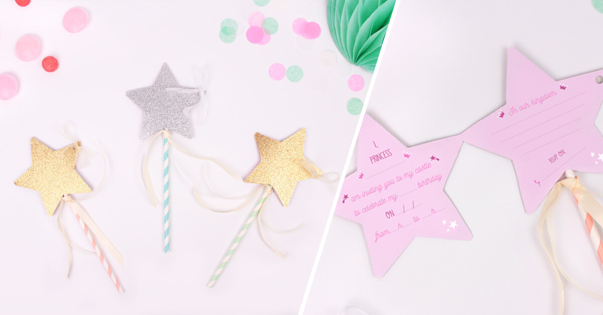 diy fairy wand birthday invitations