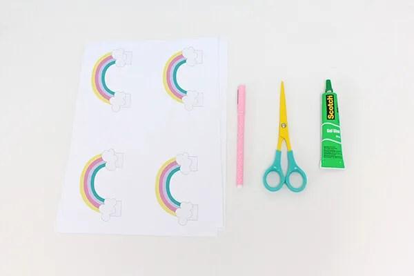 rainbow birthday invitation i diy petit