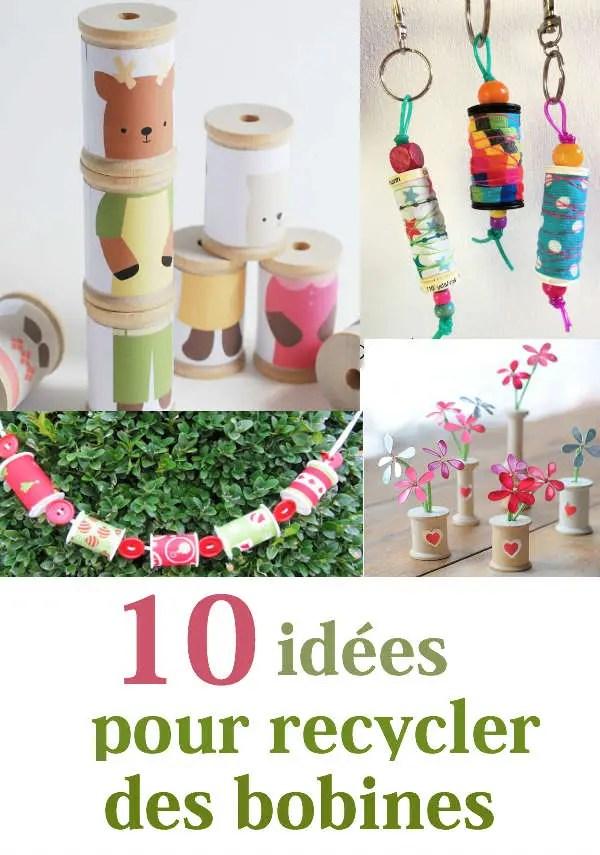 10 idees pour recycler des bobines de fil vides