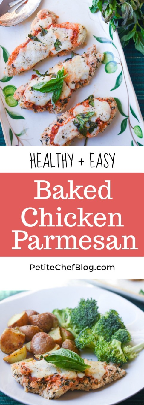 Healthy Baked Chicken Parmesan Recipe The Petite Chef