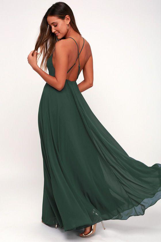 MYTHICAL KIND OF LOVE DARK GREEN MAXI DRESS