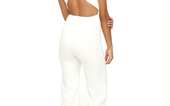 THINKING OUT LOUD WHITE BACKLESS JUMPSUIT +15% all jumpsuits TODAY!!