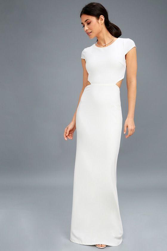 BE STILL MY HEART WHITE BACKLESS MAXI DRESS