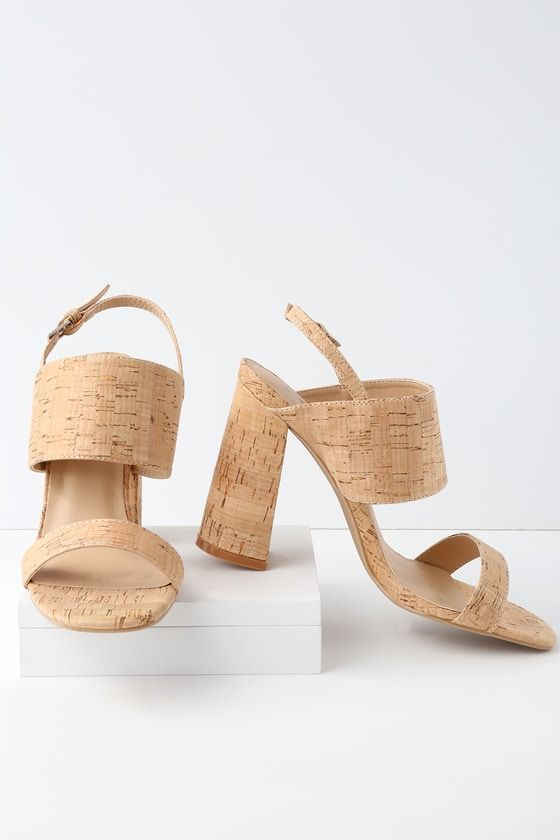 EMONY CORK HIGH HEELED SANDALS