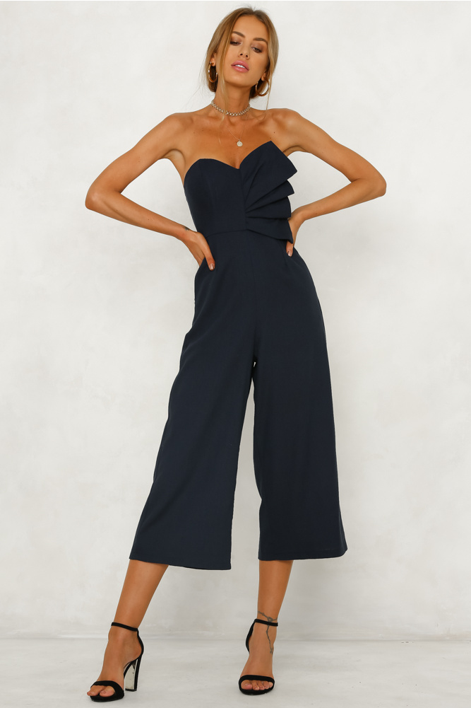 STUCK WITH ME JUMPSUIT NAVY