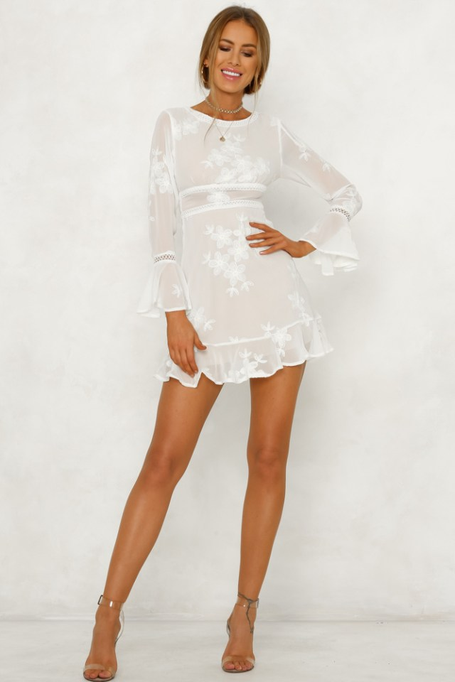 SILVER SPRINGS DRESS WHITE