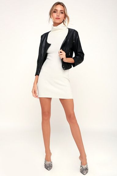 WILLIAMS BLACK VEGAN LEATHER CROPPED MOTO JACKET