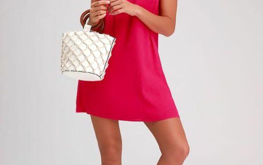 SASSY SWEETHEART MAGENTA SHIFT DRESS