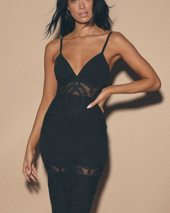 My fave LBD'S - CAN'T DENY IT BLACK LACE BODYCON MIDI DRESS