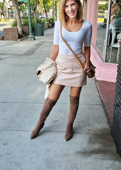 HARLEY BLUSH PINK VEGAN LEATHER MINI SKIRT