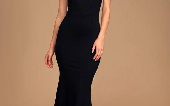 Timeless Wonder Black Ruffled Strap Midi Dress