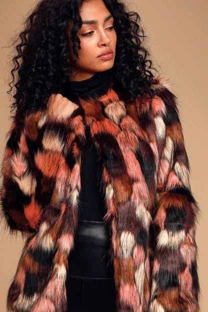 Un-Fur-Gettable Pink Multi Faux Fur Jacket
