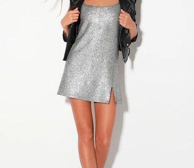Rhapsody Silver Sequin Sleeveless Mini Dress