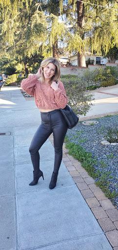 faux leather pants!